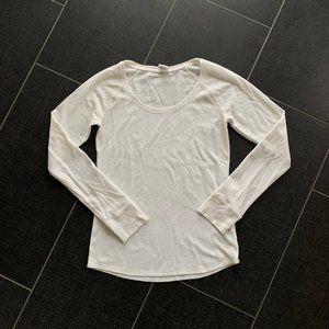 VS PINK Sleepwear Thermal White Waffle Knit Shirt